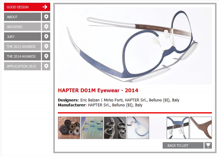THE GOOD DESIGN AWARD 2014 goes to HAPTER!