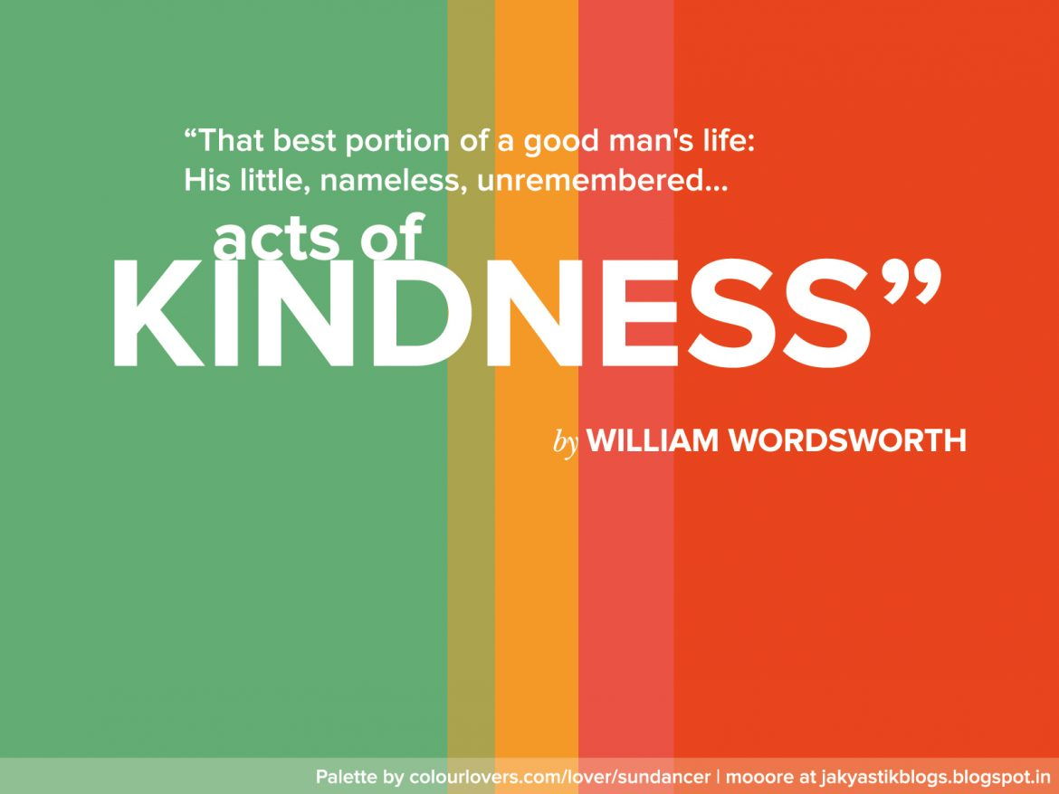 Insight #icare….Random Acts of Kindness!