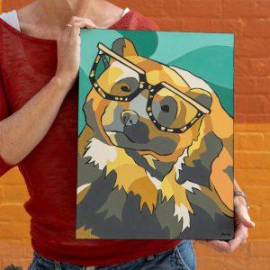 Tenille Bonoguore Wolverine Glasses Bruno Art