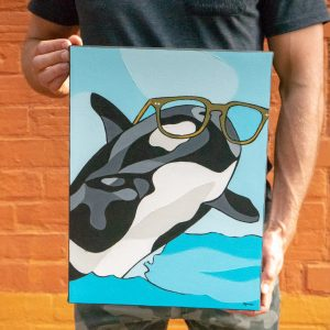 Orca Whale Glasses Kithener Art Prints