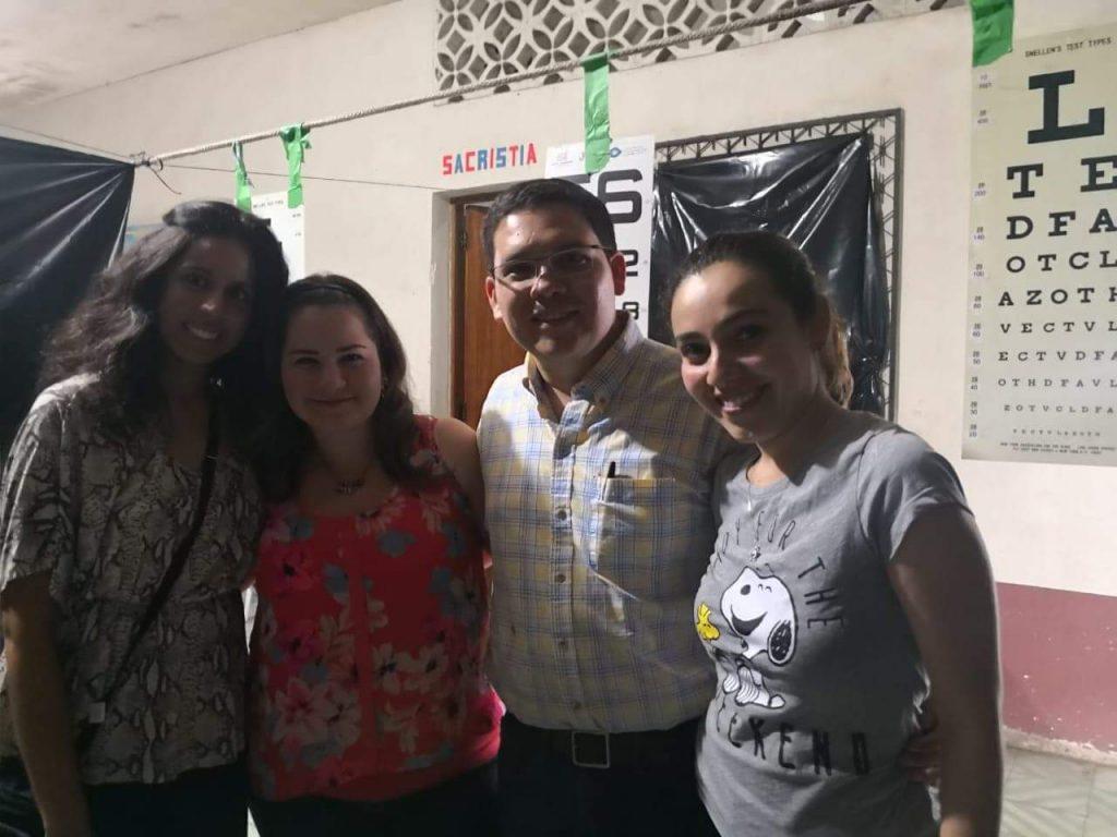 Dr. Tiffany Sieunarine with 3 Guatemalan translators.