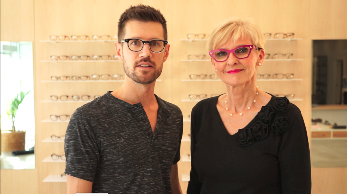 Eyewear review of Theo   Model: Cinquante +6   Colour: Hot Pink